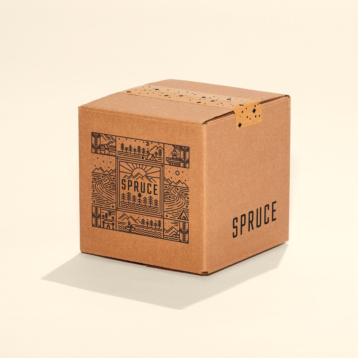 Printed econoflex shipping box with logo