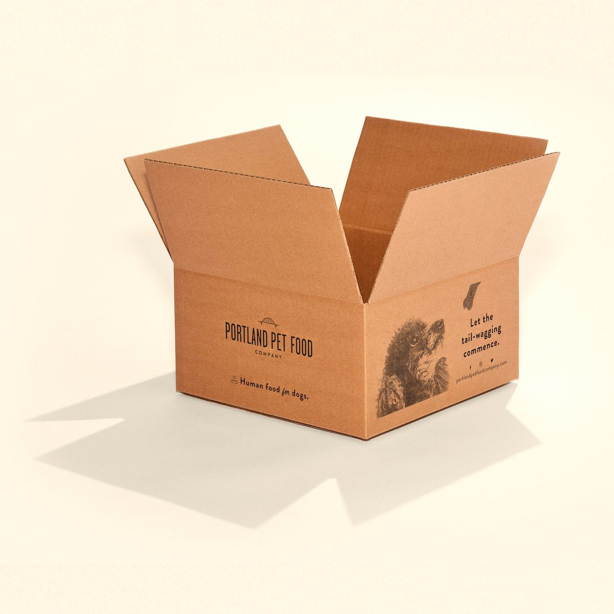 Corrugated printed shipping boxes